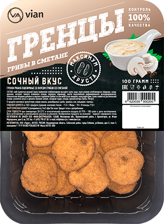 Гренки ржано-пшеничные со вкусом «грибы со сметаной»
