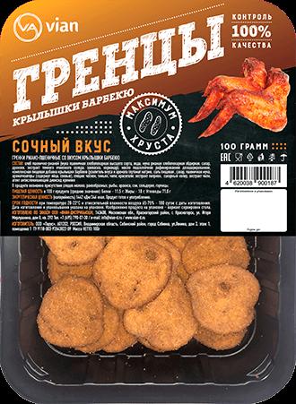 Гренки ржано-пшеничные со вкусом «крылышки барбекю»