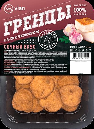 Гренки ржано-пшеничные со вкусом «чеснока и сала»